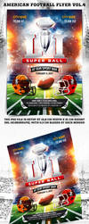 American Football Super Ball Flyer vol.4 by 4ustudio