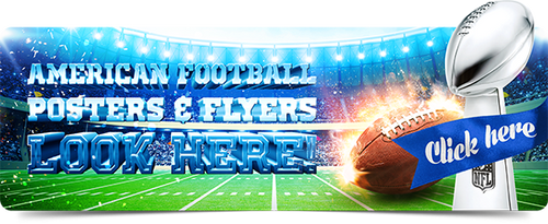 American Football Posters and Flyers by 4ustudio