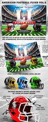 American Football Super Ball Flyer vol.5 by 4ustudio