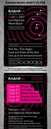Radar Music Party Poster by 4ustudio