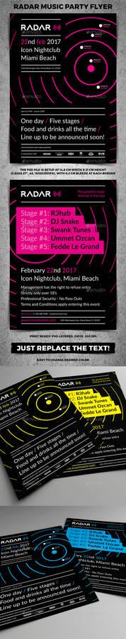 Radar Music Party Poster