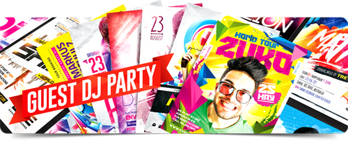Guest Dj Party Flyers Collection by 4ustudio