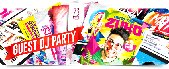 Guest Dj Party Flyers Collection