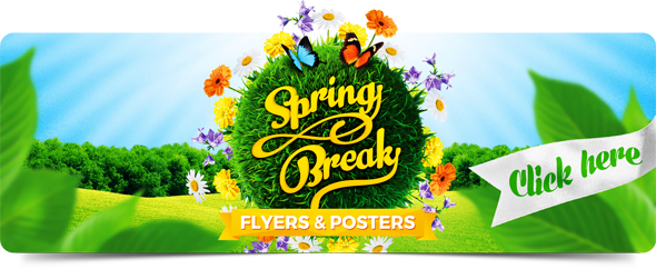 Spring Holidays Flyers Collection by 4ustudio
