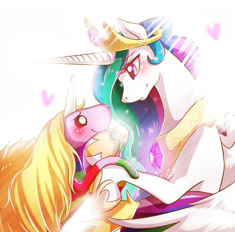 nightmare moon and luna kiss