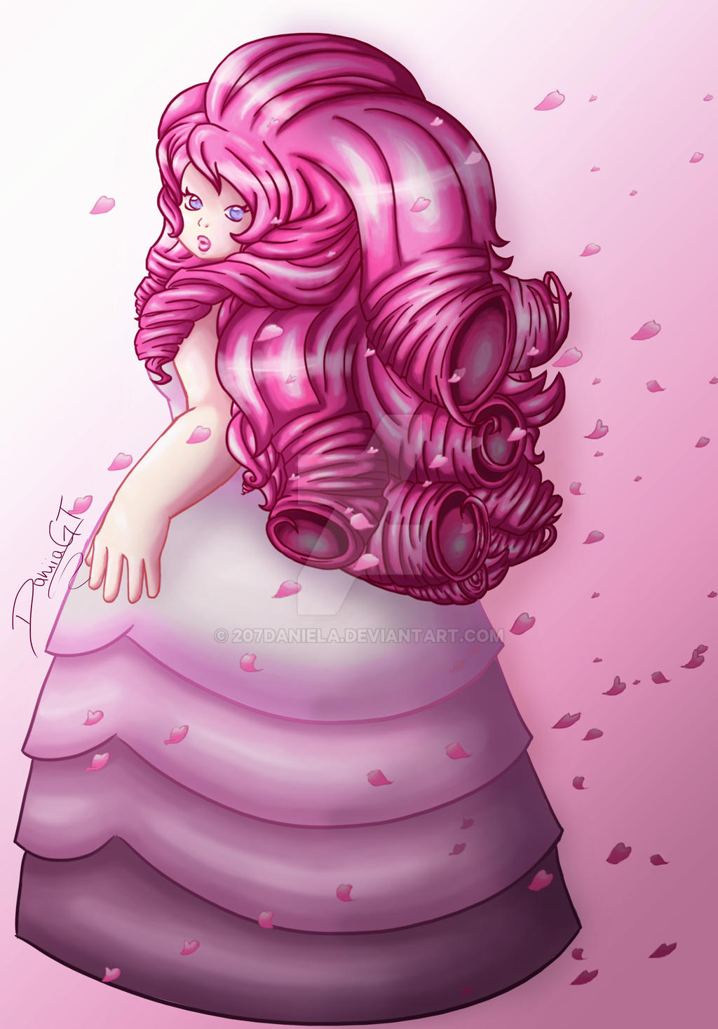 Rose quartz steven universe by 207daniela on deviantart - Rose quartz steven universe wallpaper ...
