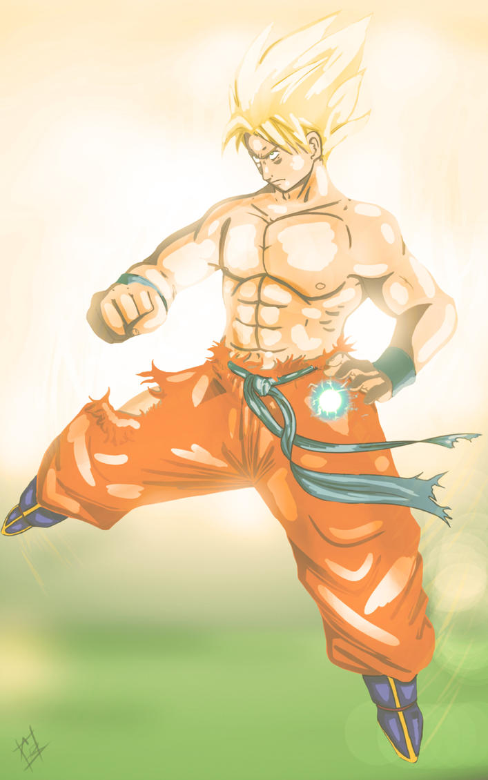 Son goku ssj sketch colored by EarthsSaviorSonGoku