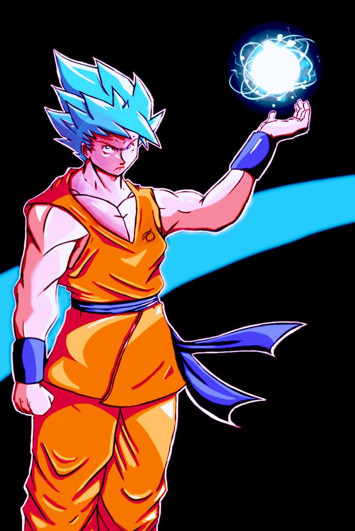 ssjGod 2 Goku by EarthsSaviorSonGoku