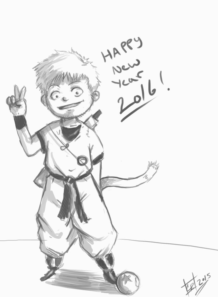 HAPPY NEW YEAR 2016 by EarthsSaviorSonGoku