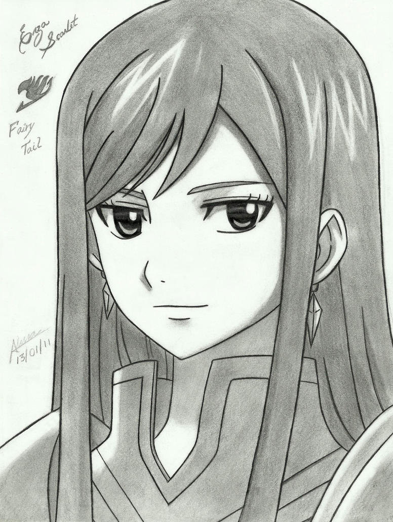 Fairy Tail Drawings Erza Erza Scarlet by lessa-ok