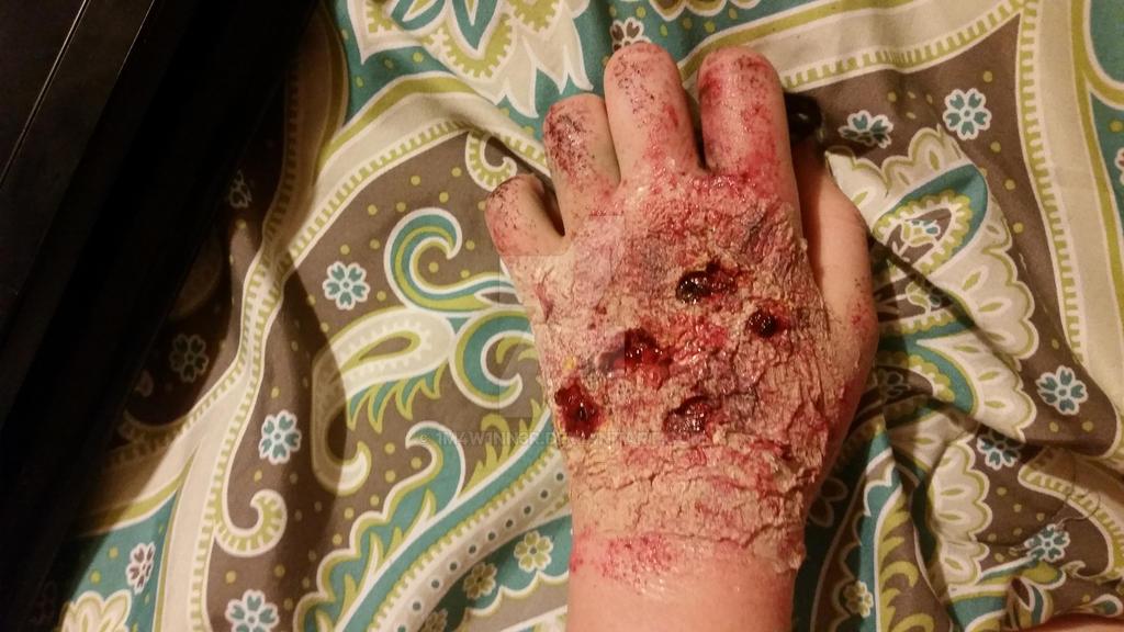 Rotten flesh makeup 2 by 1M4W1NN3R