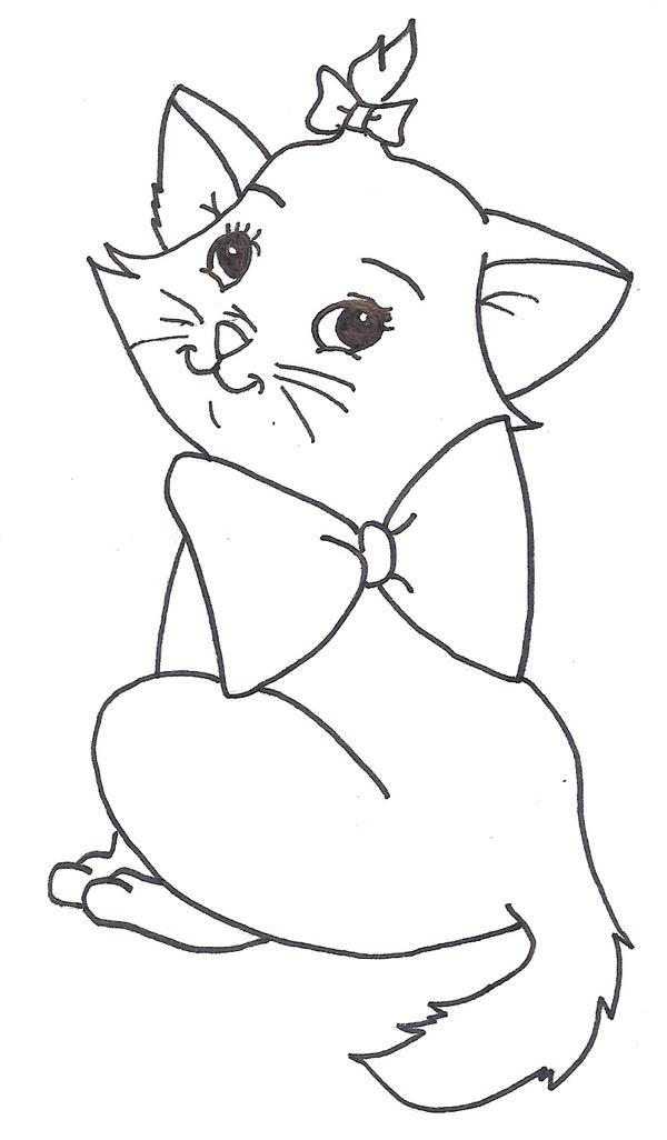 Line Drawing Disney : Marie by disney fairy on deviantart