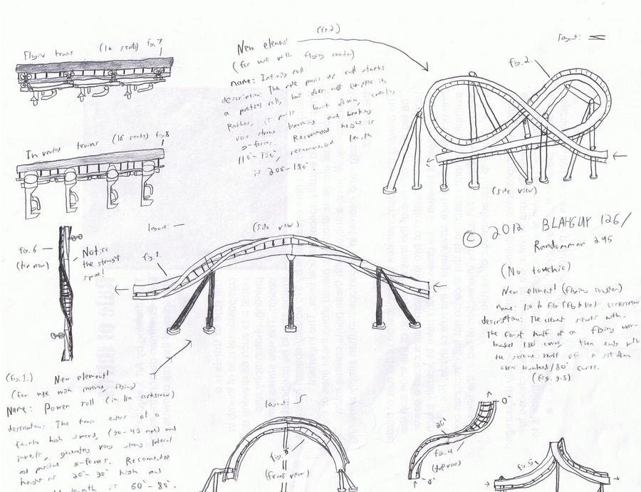 More Roller Coaster Drawings by Randomman295 on DeviantArt