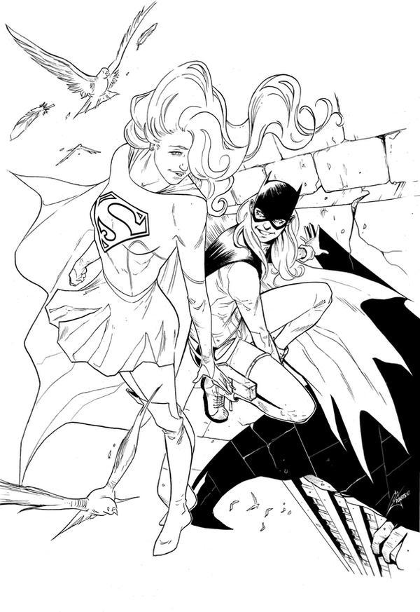 New Generation: Supergirl feat Batgirl by morphews