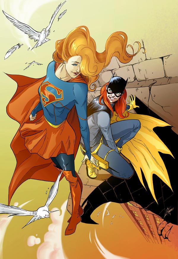 Supergirl-feat-Batgirl by morphews