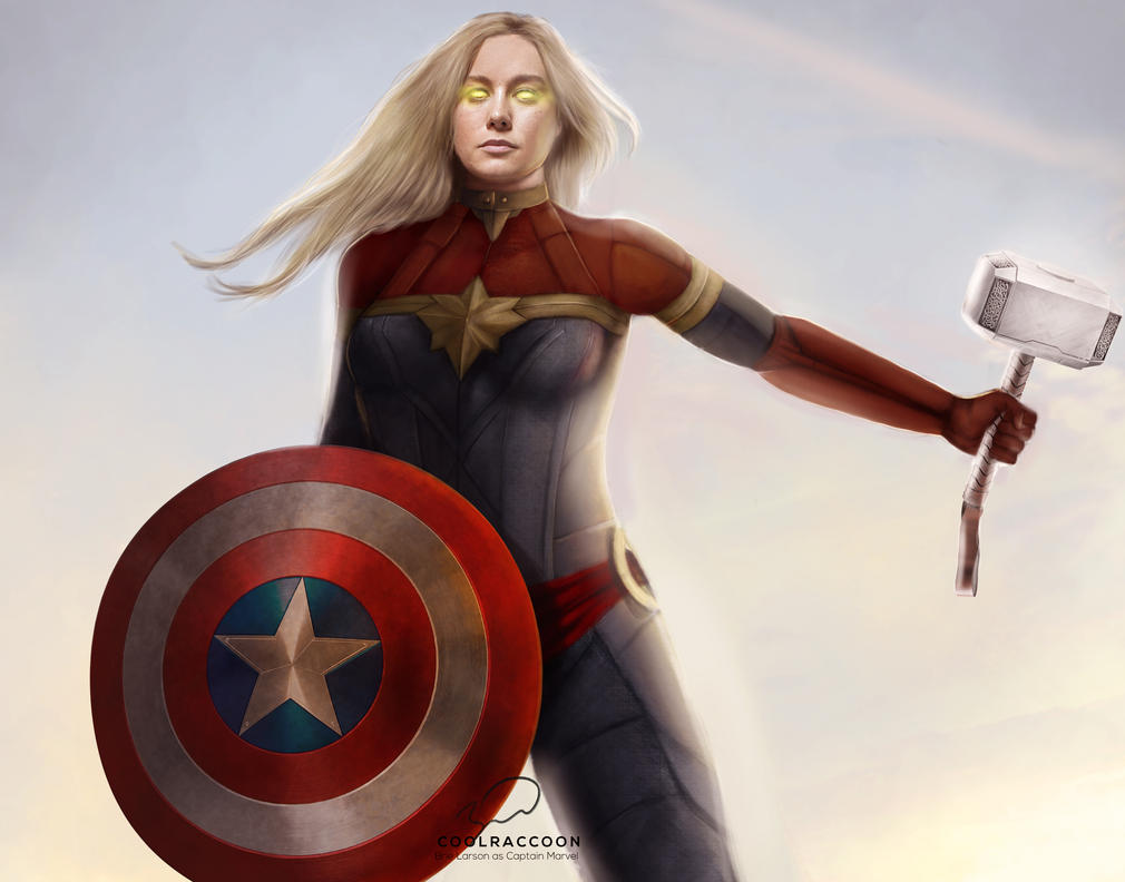 Brie Larson as Captain Marvel by bruuninferreira