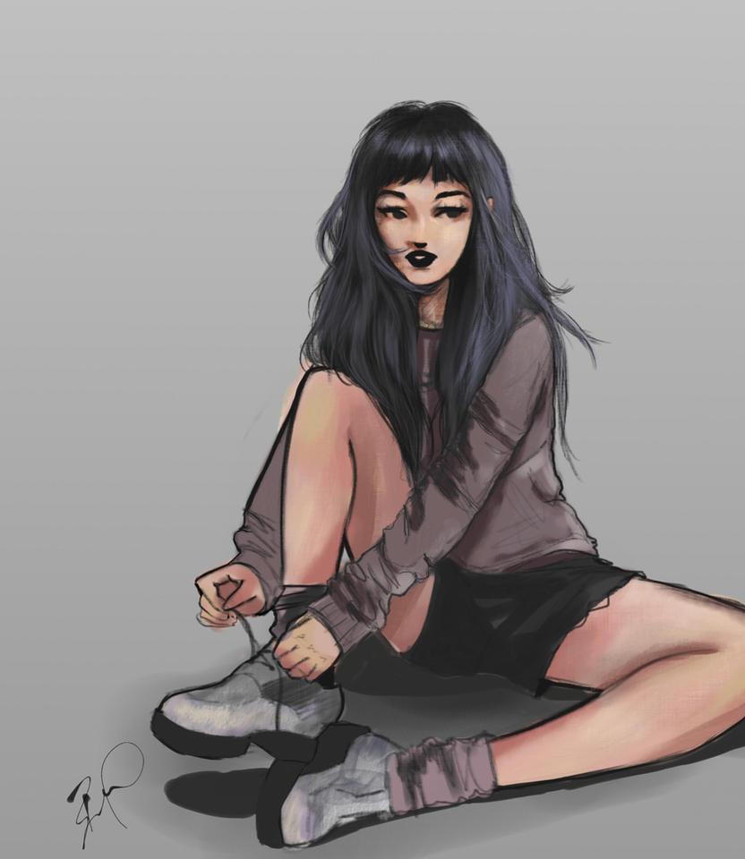 Boots girl by bruuninferreira