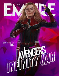 Brie Larson Captain Marvel by bruuninferreira