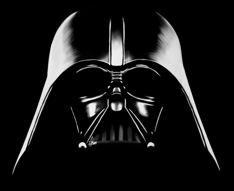 Darth Vader Black and White by Wild-Theory