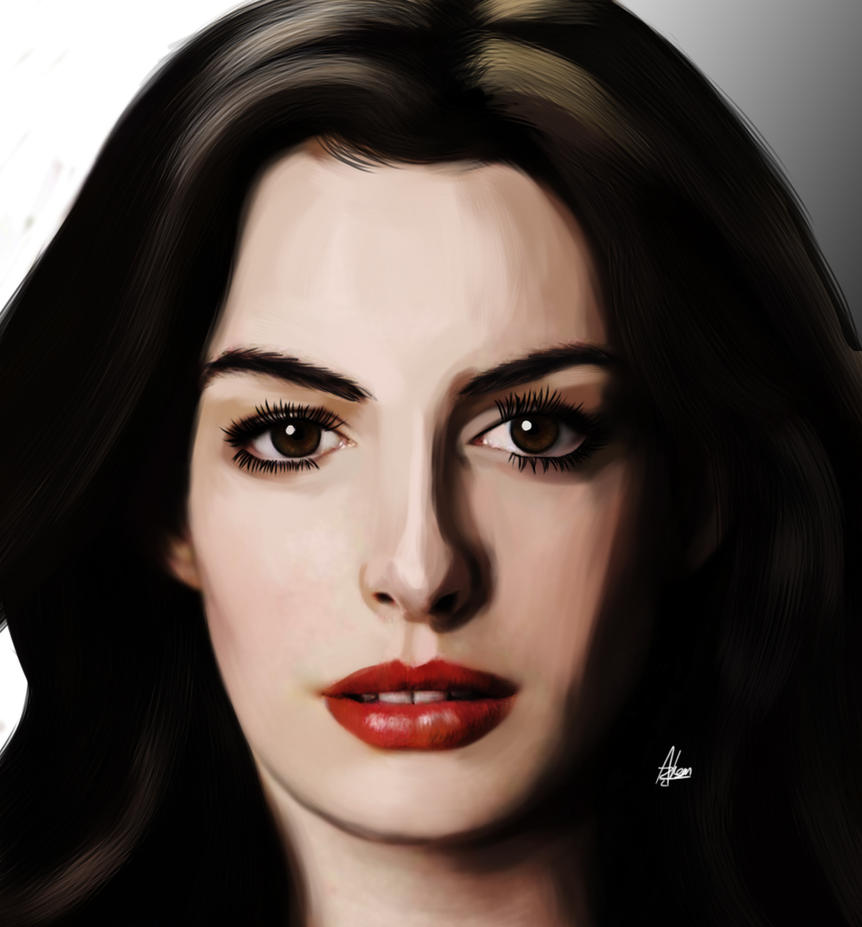 Anne Hathaway Drawing: Anne Hathaway By Wild-Theory On DeviantArt