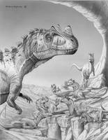 Ceratosaurus nasicornis by PaleoPastori