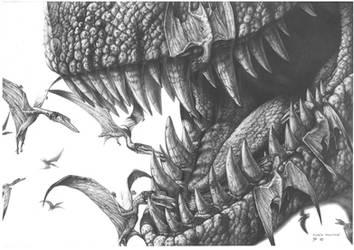Tyrannosaurus rex - Pterodactylus by PaleoPastori