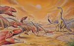 Mapusaurus vs. Argentinosaurus
