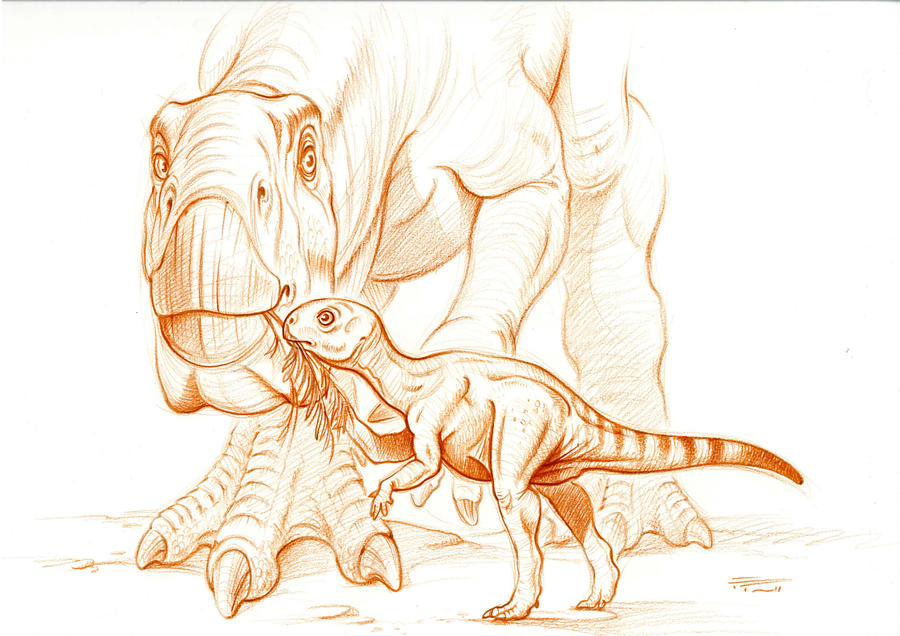 Camptosaurus dispar by PaleoPastori