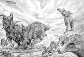 Kosmoceratops -Talos by PaleoPastori
