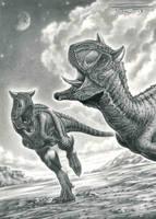 Carnotaurus sastrei by PaleoPastori