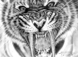 Smilodon populator by PaleoPastori