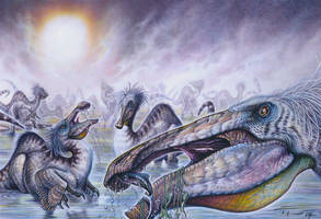 Deinocheirus mirificus by PaleoPastori