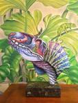 Cryolophosaurus ellioti -sculpture-