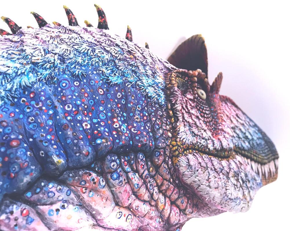 Cryolophosaurus ellioti bust by PaleoPastori