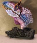 New Feathered Cryolophosaurus ellioti bust