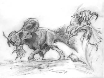 Protoceratops by PaleoPastori