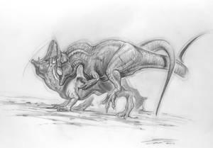 Allosaurus mating