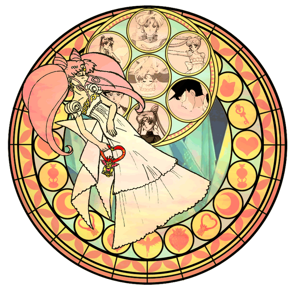 KH Stained glass ChibiUsa by CL Pinkskull on DeviantArt