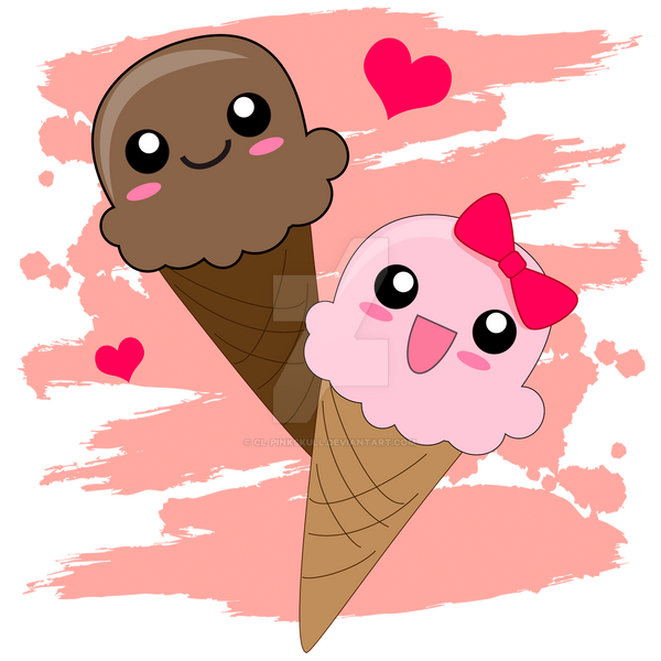 Icecream Cone Cupcake Wallpapers Mobile Pics: Kawaii Ice Cream Cones By CL-Pinkskull On DeviantArt