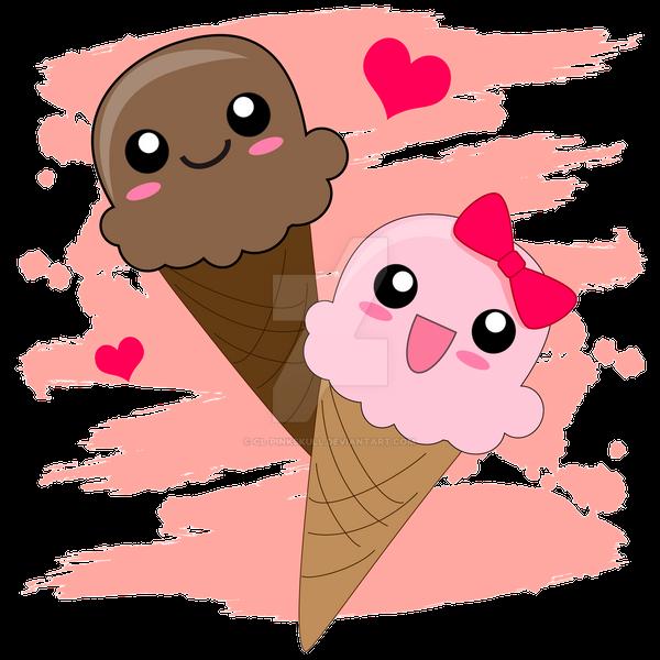 Ice Cream Cone Wallpaper: Kawaii Ice Cream Cones By CL-Pinkskull On DeviantArt