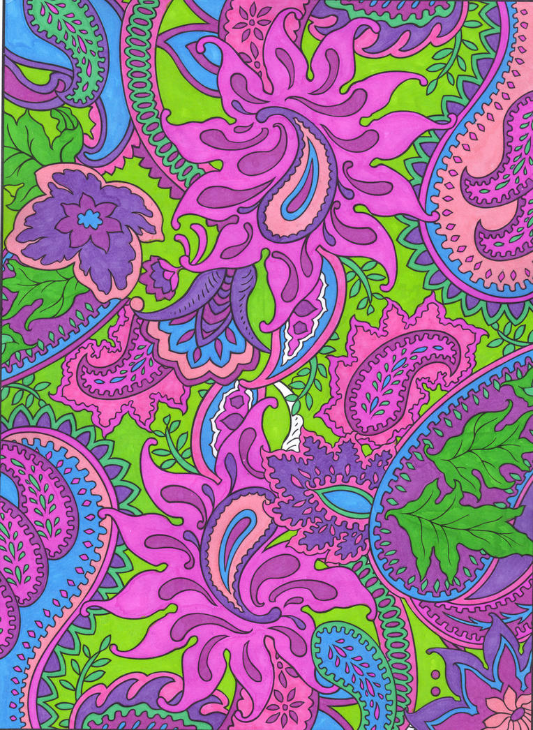 Colorful paisley computer background for Paisley wallpaper