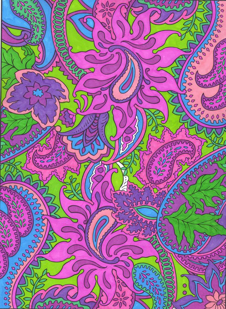 hot pink paisley background - photo #17