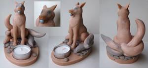 Kitsune candleholder (WIP)