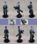 Wolf inside wolf fursuit worn by wolf (figurine)