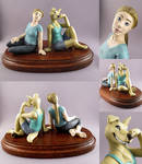 lady and lady with tail (figurine)
