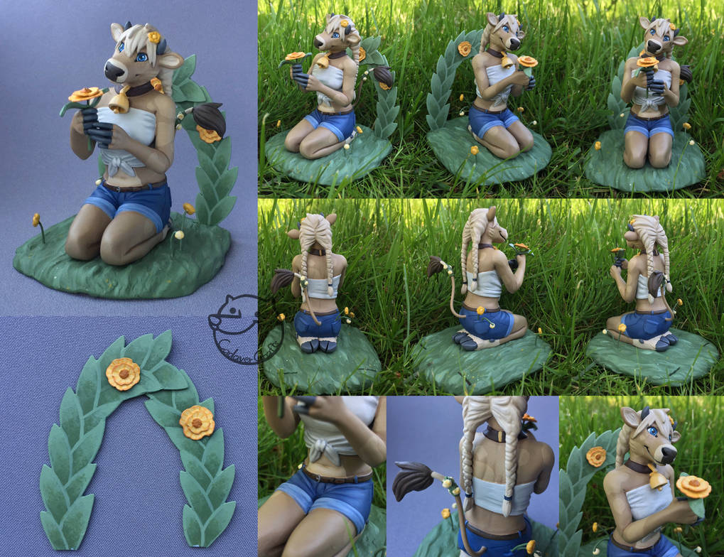 flower-cow [figurine]