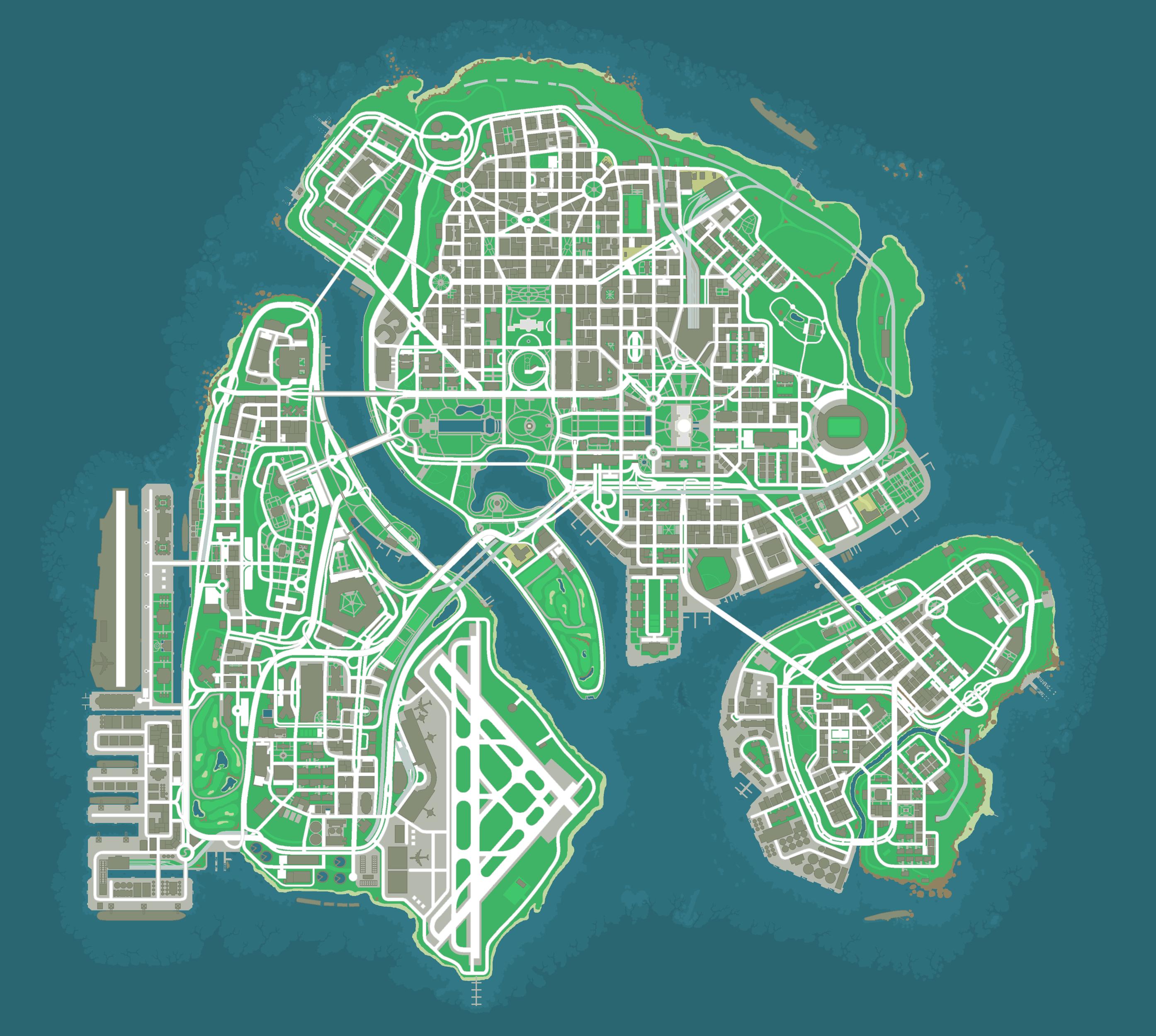 GTA Capital City Map by Maniac-Deadite on DeviantArt
