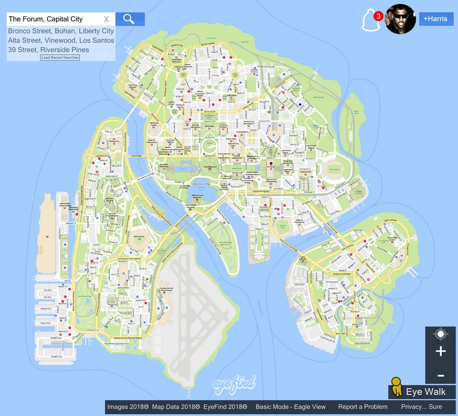 GTA Capital City Eyefind Map by Maniac-Deadite on DeviantArt