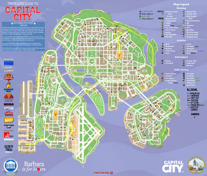 Capital City Info and Tourism Map