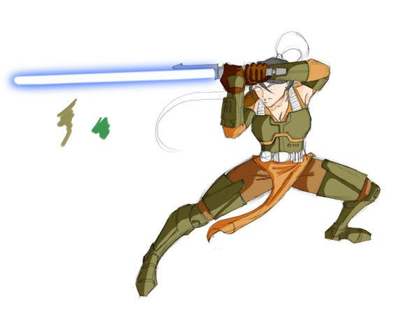 Old Republic Jedi in armor WIP by commander-13